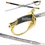 CSA Cavalry Saber Civil War Officer Sword Golden Guard