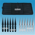"12 Pcs 8.5"" Thrower Set 440 Stainless Steel Throwing Knives with Zipper Pouch"