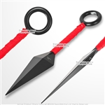 "8"" Set of 2 Stainless Steel Anime Ninja Throwing Knife Dagger with Sheath"