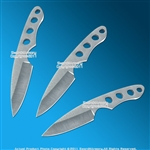 "3 Pcs 6"" Full Tang Steel Throwing Knife Set Fixed Blade Throwers with Sheath"