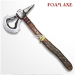 "17"" Tomahawk Axe High Density Foam LARP Cosplay Video Game Anime Muntant Assasin Weapon"