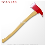 "27"" Fireman's Axe High Density Foam LARP Cosplay Fire Fighter Weapon Look Real"