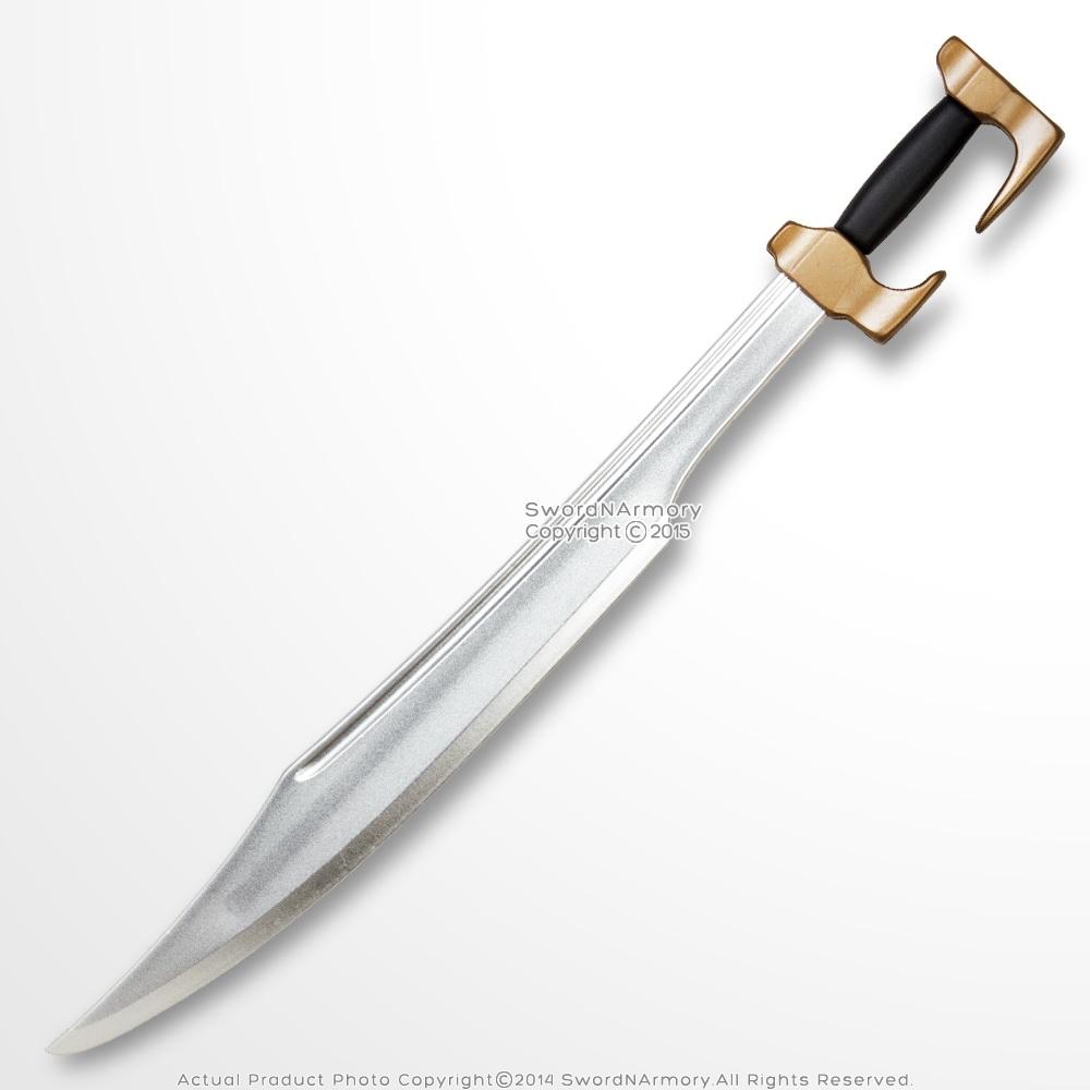 High Density Foam Spartan Warrior Greek Sword Chrome Blade ...