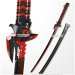 Red Genji Evil Ghost Anime Sword OW Video Game Weapon COSPLAY LARP Cosplay