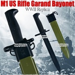 M1 US Rifle Garand Bayonet WWII Replica W/ Sheath