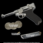 "4.5"" Miniature WW2 German 9mm Luger P08 Replica Pistol Gun Gift Souvenir w/ Case"