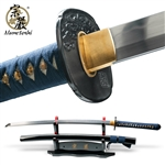 Munetoshi Water Dragon Differentially Hardened 1060 Samurai Katana Sword