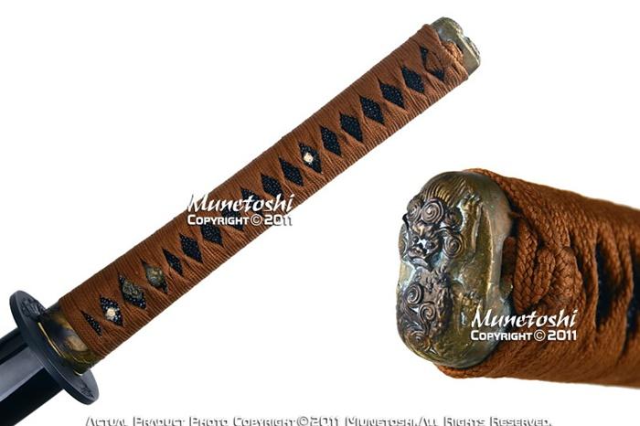 Handmade munetoshi lion dog t8 katana samurai sword