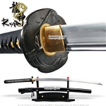 Ryujin 1095 DH Blade Hand Forged Katana Sword with Bohi 1045 Steel Dragon Tsuba