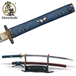 Munetoshi 2nd Gen Mokko Handmade Forged T10 Katana Samurai Sword Battle Wrap Red
