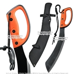 Juggle Curved Machete Sword Fixed Blade Sharp Carbon Steel Rubber Handle