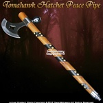 Indian Warrior Native American Tomahawk Hatchet Axe Smoking Tobacco Peace Pipe