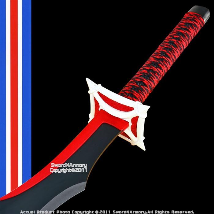 Red Demon Anime Cosplay Stainless Steel Samurai Sword