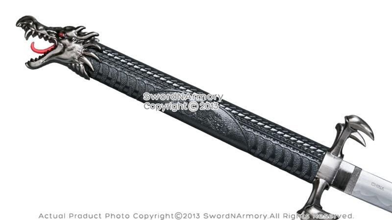 Brand new wooden s - Black Torch Dragon Fantasy Samurai Katana Sword With Four