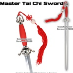 Red Master Chinese Tai Chi Practice Sword Well Balanced