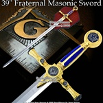 "39 "" Red Masonic Sword"
