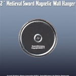 "2 "" Medieval Long Sword Super Magnetic Wall Hanger"