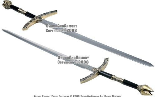 49quot medieval knights great sword with wall mounted plaque