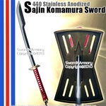440 Stainless Anodized Komura Sword With Sword Stand