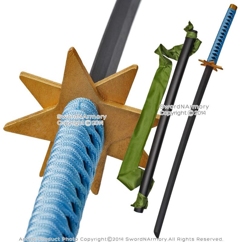 Anime Toshiro Hitsugaya Wooden Fantasy Sword Ice Ring