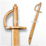 "Natural 30"" Solid Wood Pirate Cutlass Medieval Sword with Skull Emblem Cosplay"