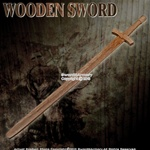 "38"" Wooden Medieval Waster Bastard Sword Practice Training Prop"