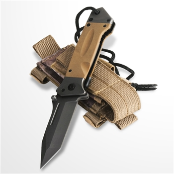 Assisted Open Tactical Folding Knife BR G10 Handle 8Cr14Mov Steel Blade w/ Pouch
