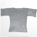 Medieval Aluminum Chainmail Shirt Haubergeon Flat Ring Round Riveted LARP