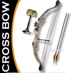 "Taiwan Made 25 LBS Camo Youth Compound Bow 23-28"" Draw Right Handed w/ 2 Arrows"