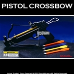 50 lbs Taiwan Made Pistol Crossbow w/ 5 Plastics Arrows and 36 Metal Bolts