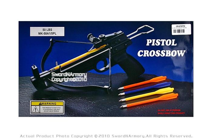 50 lbs Mini Pistol Crossbow Bolts W/ 5 Bolts Arrow