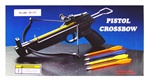 50 lbs Crossbow Plastic Stock Body with 3 Plastic Bolts & Extra 24 Metal Arrows