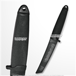 "12"" Black Polypropylene Combat Training Fixed Blade Dagger Sparring Knife"