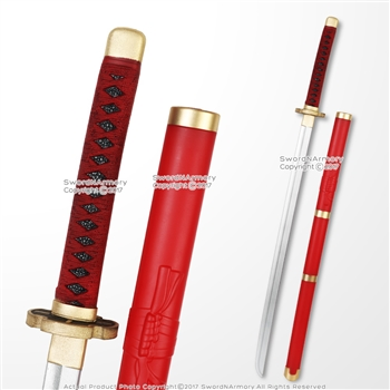 Red Roronoa Zoro Collectible Foam Sword Anime Video Game Weapon Reenactment LARP
