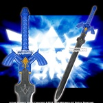 Blue Link Master Zelda Sword Twilight Princess Fantasy Dagger with Plaque