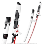 Overwatch Katana Genji Sword WHITE &RED Dragon Blade Cybernetic Warrior Steel OW Cosplay Metal Costume