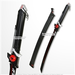 GENJI RED Anime Wakizashi Short Katana Sword OW Video Game Weapon Cosplay