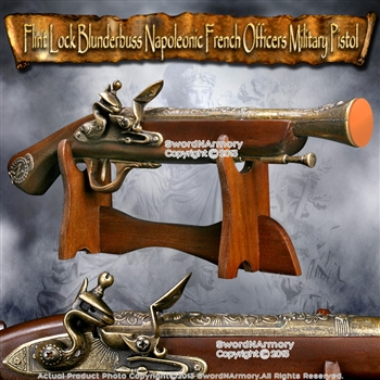 Flint Lock Blunderbuss Napoleonic French Officers Military Pistol Replica