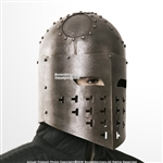 Functional Antique Look Spangenhelm Medieval Viking Helmet 16G Steel SCA LARP