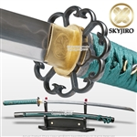 Skyjiro Hota Tegai Scallop 1070 Differential Hardened Forge Folded Katana Sword