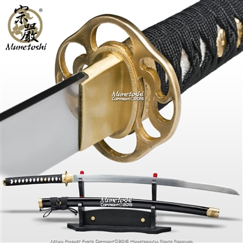 3rd Gen Munetoshi Competition Samgakdo Korean Sword Katana 1065 Heat Treat Spring Steel