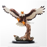 Flying Bald Eagle Gift Desk Office Ornament Decoration Polyresin Sculpture