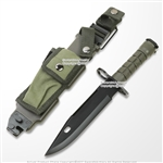 "12"" M9 Military Style Fixed Blade Survival Knife with Tactical Sheath Wire Cutter"