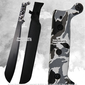 Full Tang Fixed Blade Jungle Machete Fantasy Zombie Hunting Sword Sax Style WT