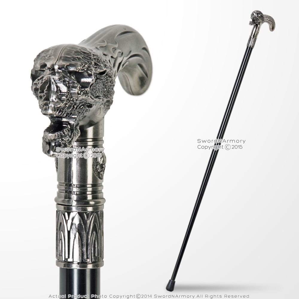 Hot Red Fine Detailing Skull Shape Premium Walking Stick Handle Unique Product