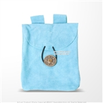 Light Blue Medieval Renaissance Fair Costume Suede Leather Pouch Satchel Bag LARP SCA
