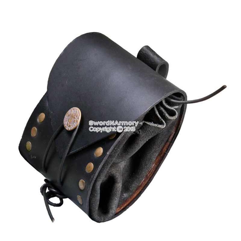 Medieval Cosplay Renaissance Handcrafted Leather Belt Pouches