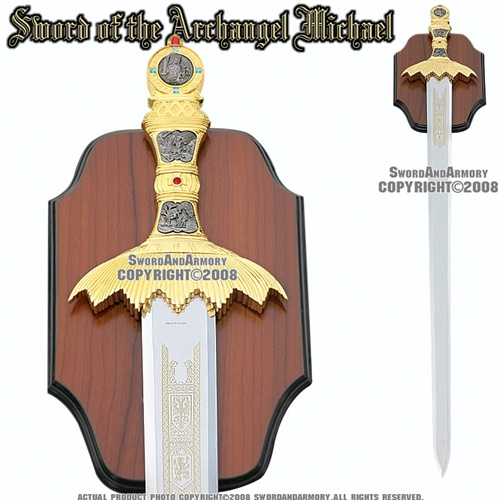 Medieval Sword Of The Archangel Michael St Michael