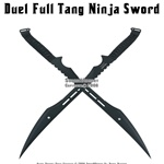 Dual Full Tang  Black Blade Fantasy Ninja Sword Sheath