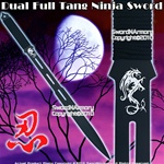 "29"" Dual Full Tang Blade Ninja Sword Machete New"